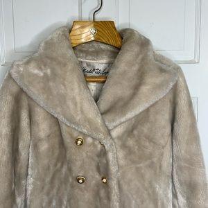 Vintage Jackets & Coats - Vintage Faux Fur Double Breasted Car Coat